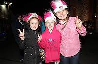 20/11/13<br /> Fans Katie McLoughlin (10),Abi Barrett (10) and Ellen OCollaghan (12) from Bundoran pictured arriving to the Cheerios Childline Concert at the O2 Dublin this evening….<br /> Pic Collins Photos