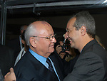 MIKHAIL GORBACIOV  CON WALTER VELTRONI<br /> SERATA PREMI NOBEL   - HOTEL EXEDRA ROMA 2003