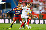 FC Barcelona's Leo Messi (l) and Sevilla CF's Vitolo during Spanish Kings Cup Final match. May 22,2016. (ALTERPHOTOS/Acero)