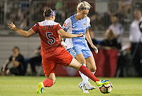 Boyds, MD - Saturday April 29, 2017: Whitney Church, Rachel Daly during a regular season National Women's Soccer League (NWSL) match between the Washington Spirit and the Houston Dash at Maureen Hendricks Field, Maryland SoccerPlex. The Dash won 1-0.