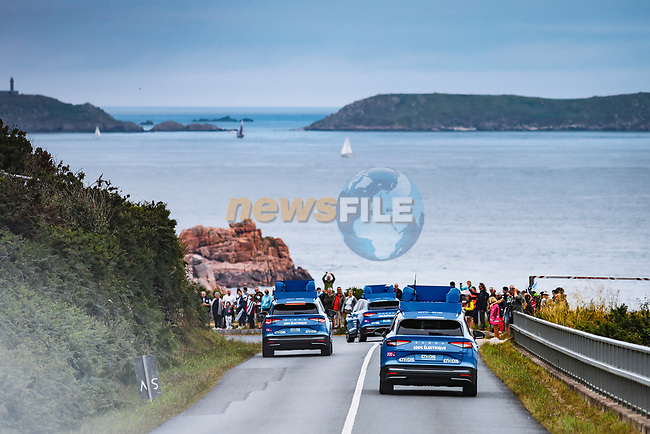 The publicity caravan before Stage 2 of the 2021 Tour de France, running 183.5km from Perros-Guirec to Mur-de-Bretagne Guerledan, France. 27th June 2021.  <br /> Picture: A.S.O./Aurelien Vialatte | Cyclefile<br /> <br /> All photos usage must carry mandatory copyright credit (© Cyclefile | A.S.O./Aurelien Vialatte)