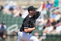 Kannapolis Intimidators starting pitcher Johnathan Frebis (26) in action against the Lakewood BlueClaws at Kannapolis Intimidators Stadium on May 8, 2016 in Kannapolis, North Carolina.  The Intimidators defeated the BlueClaws 3-2.  (Brian Westerholt/Four Seam Images)