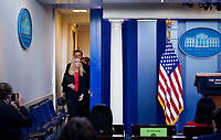 White House Press Secretary Kayleigh McEnany speaks during a news briefing in the Brady Press Briefing Room of the White House in Washington, DC on Thursday, January 7, 2021.<br /> CAP/MPI/RS<br /> ©RS/MPI/Capital Pictures