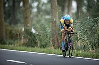 Daniil Nikulin (UKR)<br /> <br /> 88th UCI Road World Championships 2021 – ITT (WC)<br /> Men's U23 Time trial from Knokke-Heist to Brugge (30.3km)<br /> <br /> ©Kramon