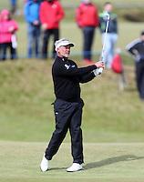 Sunday 31st May 2015; Darren Clarke, Northern Ireland, plays his approach to the 11th<br /> <br /> Dubai Duty Free Irish Open Golf Championship 2015, Round 4 County Down Golf Club, Co. Down. Picture credit: John Dickson / DICKSONDIGITAL