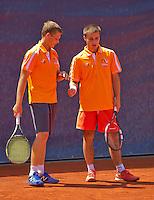 Austria, Kitzbühel, Juli 18, 2015, Tennis,  Junior Davis Cup, ltr: Bart Stevens and Guy den Heijer (NED) (R)<br /> Photo: Tennisimages/Henk Koster