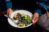 Amérique/Amérique du Sud/Pérou/Urubamba : Repas sur le marché