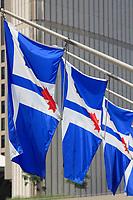 Toronto (ON) CANADA - July 2012 -flags of  Toronto City Hall