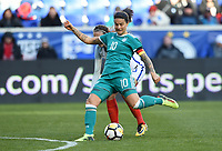 Harrison, N.J. - Sunday March 04, 2018: Dzsenifer Marozsán during a 2018 SheBelieves Cup match between the women's national teams of the Germany (GER) and England (ENG) at Red Bull Arena.