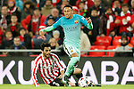 Athletic de Bilbao's Eneko Boveda (l) and FC Barcelona's Neymar Santos Jr during Spanish Kings Cup match. January 05,2017. (ALTERPHOTOS/Acero)