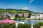 Deutschland, Rheinland-Pfalz, Moseltal, Traben-Trarbach: Ortsteil Traben | Germany, Rhineland-Palatinate, Moselle Valley, Traben-Trarbach: district Traben at river Moselle