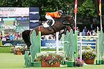 Equestrian - Showjumping - Meydan FEI Nations Cup.Eric Van Der Vleuten (NED) aboard Vdl Groep Utascha Sfn in action during the Meydan FEI Nations Cup at the Royal Dublin Society (RDS) in Dublin.
