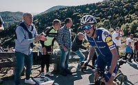 Former Lombardia winner Daniel Martin (IRE/QuickStep Floors) up the infamous Muro di Sormano (avg 17%/max 25%) in his last ever race for Team QuickStep Floors<br /> <br /> Il Lombardia 2017<br /> Bergamo to Como (ITA) 247km