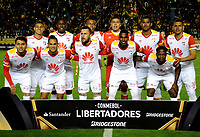 LA PAZ - BOLIVIA - 09 - 03 - 2017: Los jugadores de Independiente Santa Fe de Colombia, posan para una foto, durante partido entre The Strongest de Bolivia y el Independiente Santa Fe de Colombia, por la fase de grupos del grupo 2 de la fecha 1 por la Copa Conmebol Libertadores Bridgestone en el estadio Hernando Siles Suazo, de la ciudad de La Paz. / The Players of Independiente Santa Fe of Colombia, pose for a photo, during a match between The Strongest of Bolivia and Independiente Santa Fe of Colombia for the group stage, group 2 of the date 1 for the Conmebol Libertadores Bridgestone in the Hernando Siles Suazo Stadium in La Paz city. Photos: VizzorImage / Javier Mamani / APG / Cont.
