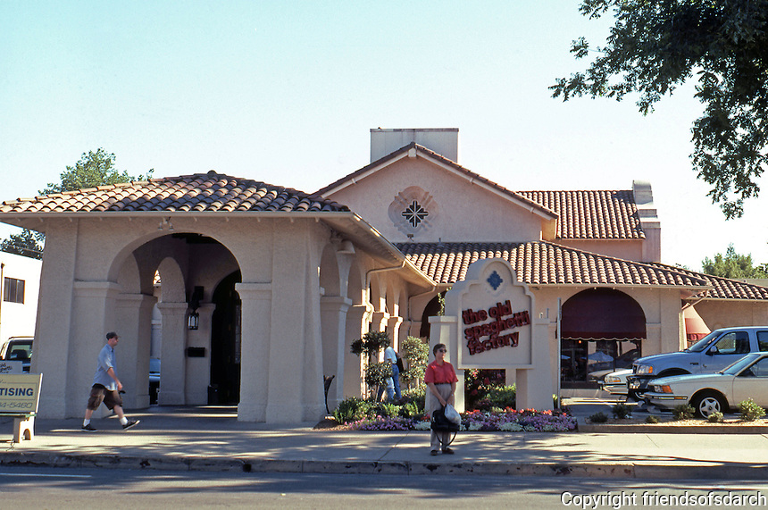 Sacramento CA: The Western Pacific Depot, Willis Polk. (Now an Old Spaghetti Factory.)