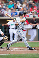 Jacob Robson (7) of the West Michigan Whitecaps follows through on his swing against the Dayton Dragons at Fifth Third Field on May 29, 2017 in Dayton, Ohio.  The Dragons defeated the Whitecaps 4-2.  (Brian Westerholt/Four Seam Images)