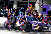 Monster Energy NASCAR Cup Series<br /> Brickyard 400<br /> Indianapolis Motor Speedway, Indianapolis, IN USA<br /> Sunday 23 July 2017<br /> Denny Hamlin, Joe Gibbs Racing, FedEx Cares Toyota Camry pit stop<br /> World Copyright: Russell LaBounty<br /> LAT Images
