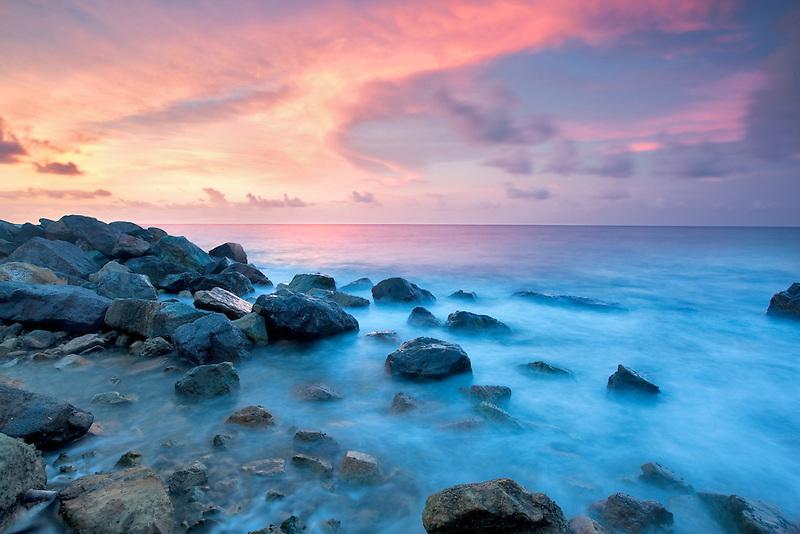 Coastal sunset.  St. Thomas. US Virgin Islands
