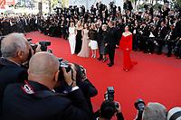 ELODIE BOUCHEZ, SANDRINE KIBERLAIN, ISABELLE HUPPERT, CATHERINE DENEUVE, ANDRE TECHINE, EMMANUELLE BEART, LAMBERT WILSON, JULIETTE BINOCHE - 'The Killing of a Sacred Deer' Red carpet during Cannes Film Festival in Cannes, France, 22/05/2017. # 70EME FESTIVAL DE CANNES - RED CARPET 'MISE A MORT DU CERF SACRE'