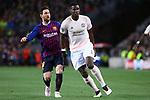 UEFA Champions League 2018/2019.<br /> Quarter-finals 2nd leg.<br /> FC Barcelona vs Manchester United: 3-0.<br /> Lionel Messi vs Paul Pogba.