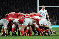 George Ford of England looks on during the Guinness Six Nations match between England and Wales at Twickenham Stadium on Saturday 7th March 2020 (Photo by Rob Munro/Stewart Communications)