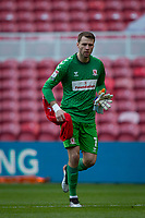 13th March 2021; Riverside Stadium, Middlesbrough, Cleveland, England; English Football League Championship Football, Middlesbrough versus Stoke City; Marcus Bettinelli of Middlesbrough makes his way to the goal