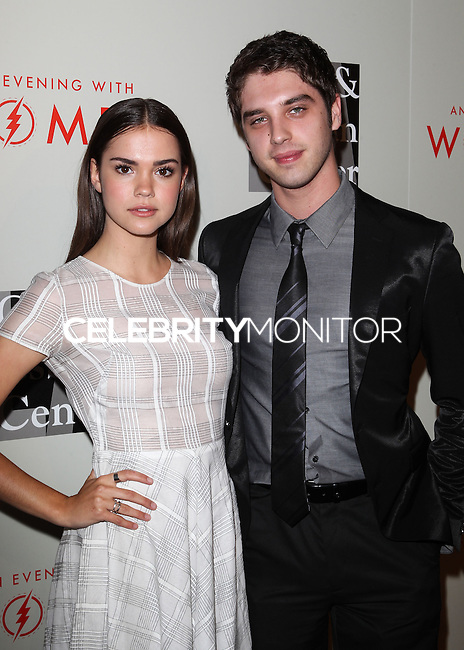 """BEVERLY HILLS, CA, USA - MAY 10: Maia Mitchell, David Lambert at the """"An Evening With Women"""" 2014 Benefiting L.A. Gay & Lesbian Center held at the Beverly Hilton Hotel on May 10, 2014 in Beverly Hills, California, United States. (Photo by Celebrity Monitor)"""