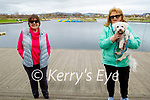 Enjoying a stroll in the Tralee Bay Wetlands on Monday, l to r: Mary O'Sullivan and Catherine Grace with Alfie the dog.
