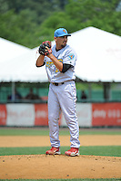 Reading Fightin Phils pitcher Ryan O'Sullivan (23) during game against the New Britain Rock Cats  at New Britain Stadium on July 13, 2014 in New Britain, CT. Reading defeated New Britain 6-4.  (Tomasso DeRosa/Four Seam Images)