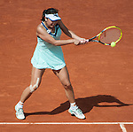 Shuai Peng loses  at Roland Garros in Paris, France on June 2, 2012