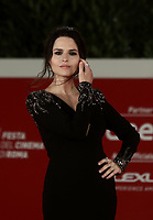 "Italian actress Ivana Lotito poses on the red carpet for the screening of the film ""Romulus"" during the 15th Rome Film Festival (Festa del Cinema di Roma) at the Auditorium Parco della Musica in Rome on October 24, 2020.<br />