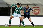 13.01.2021, xtgx, Fussball 3. Liga, VfB Luebeck - SV Waldhof Mannheim emspor, v.l. Soufian Benyamina (Luebeck, 33), w14 Zweikampf, Duell, Kampf, tackle <br /> <br /> (DFL/DFB REGULATIONS PROHIBIT ANY USE OF PHOTOGRAPHS as IMAGE SEQUENCES and/or QUASI-VIDEO)<br /> <br /> Foto © PIX-Sportfotos *** Foto ist honorarpflichtig! *** Auf Anfrage in hoeherer Qualitaet/Aufloesung. Belegexemplar erbeten. Veroeffentlichung ausschliesslich fuer journalistisch-publizistische Zwecke. For editorial use only.