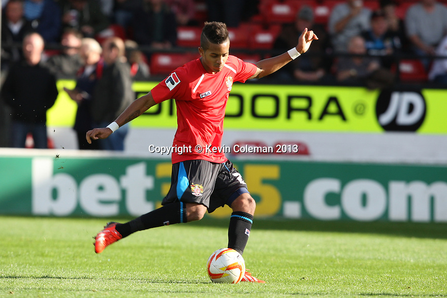Bruno Andrade of Stevenage (on loan from QPR)<br />  - Walsall v Stevenage - Sky Bet League One - Banks's Stadium, Walsall - 19th October 2013. <br /> © Kevin Coleman 2013