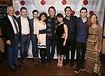 """Donald T. Sanders, Ari Evan, Matthew Cohen, Zhenni Li, John Boble, Mari Lee, Henry Wang, Maximilian Morel and Eve Wolf attend the Opening Night Celebration for Ensemble for the Romantic Century Off-Broadway Premiere of<br />""""Maestro"""" at the West Bank Cafe on January 15, 2019 in New York City."""