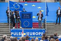 """#EuropaDemo von """"Pulse of Europe"""" am Sonntag den 5. Mai 2019 auf dem Berliner Gendarmenmarkt.<br /> Als Redenerin war u.a. Annegret Kramp-Karrenbauer, Bundesvorsitzende der CDU (im Bild), eingeladen.<br /> 5.5.2019, Berlin<br /> Copyright: Christian-Ditsch.de<br /> [Inhaltsveraendernde Manipulation des Fotos nur nach ausdruecklicher Genehmigung des Fotografen. Vereinbarungen ueber Abtretung von Persoenlichkeitsrechten/Model Release der abgebildeten Person/Personen liegen nicht vor. NO MODEL RELEASE! Nur fuer Redaktionelle Zwecke. Don't publish without copyright Christian-Ditsch.de, Veroeffentlichung nur mit Fotografennennung, sowie gegen Honorar, MwSt. und Beleg. Konto: I N G - D i B a, IBAN DE58500105175400192269, BIC INGDDEFFXXX, Kontakt: post@christian-ditsch.de<br /> Bei der Bearbeitung der Dateiinformationen darf die Urheberkennzeichnung in den EXIF- und  IPTC-Daten nicht entfernt werden, diese sind in digitalen Medien nach §95c UrhG rechtlich geschuetzt. Der Urhebervermerk wird gemaess §13 UrhG verlangt.]"""