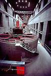 Bonneville Dam powerhouse, Columbia River, Bonneville Power Administration, (BPA), Washington State, electrical power generation,.
