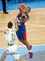 "Tony Parker of France (R) in action during European basketball championship ""Eurobasket 2013"" quarter-final basketball game between Slovenia and France in Stozice Arena in Ljubljana, Slovenia, on September 18. 2013. (credit: Pedja Milosavljevic  / thepedja@gmail.com / +381641260959)"