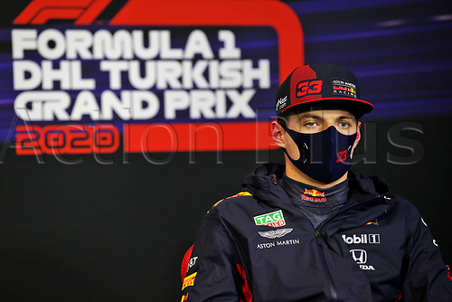 14th November 2020; Istanbul Park, Istanbul, Turkey; FIA Formula One World Championship 2020, Grand Prix of Turkey, qualifying; 2nd on grid 33 Max Verstappen NLD, Aston Martin Red Bull Racing