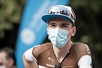 Romain Bardet (FRA/AG2R-La Mondiale) at the race start in Clermont-Ferrand<br /> <br /> Stage 1: Clermont-Ferrand to Saint-Christo-en-Jarez (218km)<br /> 72st Critérium du Dauphiné 2020 (2.UWT)<br /> <br /> ©kramon