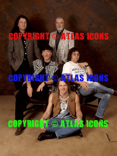 DEEP PURPLE Mark VII - (L-R) Jon Lord, Roger Glover, Ian Paice, Ian Gillan, Steve Morse - photographed exclusively in London UK - 05 Dec 1995. .Photo credit: <br /> George Chin/IconicPix/AtlasIcons.com