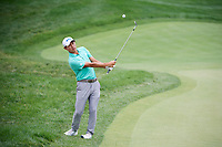 6th June 2021; Dublin, Ohio, USA;  Collin Morikawa (USA) chips on to the 4th green during the final round of the Memorial Tournament at Muirfield Village Golf Club in Dublin, Ohio
