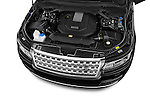 Car Stock 2015 Land Rover RANGE ROVER Vogue 5 Door SUV Engine high angle detail view