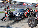 Sprint Cup Series driver Kurt Busch's (78) pit crew in action during the Nascar Sprint Cup Series AAA Texas 500 race at Texas Motor Speedway in Fort Worth,Texas. Sprint Cup Series driver Jimmie Johnson (48) wins the AAA Texas 500 race.