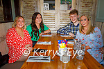Maria Brennan from Freemount celebrating her birthday in Benners on Saturday, l to r: Sarah McCormack, Josh Sheahan and Roisin O'Callaghan.