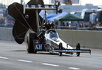 Jul, 9, 2011; Joliet, IL, USA: NHRA top fuel dragster driver Larry Dixon during qualifying for the Route 66 Nationals at Route 66 Raceway. Mandatory Credit: Mark J. Rebilas-