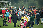 Spectators watch Round 2 of the World Ladies Championship 2016 on 12 March 2016 at Mission Hills Olazabal Golf Course in Dongguan, China. Photo by Victor Fraile / Power Sport Images
