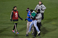 Columbus, Ohio - Friday, November 11, 2016: Oribe Peralta, security, fan during a USMNT vs Mexico WCQ at Mapfre Stadium. Mexico defeated the USA 2-1.