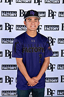 Izeyas Galindo (2) of Saint Francis High School in San Jose, California during the Baseball Factory All-America Pre-Season Tournament, powered by Under Armour, on January 12, 2018 at Sloan Park Complex in Mesa, Arizona.  (Mike Janes/Four Seam Images)