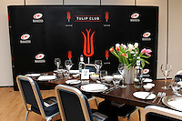 20130216 Copyright onEdition 2013©.Free for editorial use image, please credit: onEdition..Detail of the Tulip Club before the Premiership Rugby match between Saracens and Exeter Chiefs at Allianz Park on Saturday 16th February 2013 (Photo by Rob Munro)..For press contacts contact: Sam Feasey at brandRapport on M: +44 (0)7717 757114 E: SFeasey@brand-rapport.com..If you require a higher resolution image or you have any other onEdition photographic enquiries, please contact onEdition on 0845 900 2 900 or email info@onEdition.com.This image is copyright onEdition 2013©..This image has been supplied by onEdition and must be credited onEdition. The author is asserting his full Moral rights in relation to the publication of this image. Rights for onward transmission of any image or file is not granted or implied. Changing or deleting Copyright information is illegal as specified in the Copyright, Design and Patents Act 1988. If you are in any way unsure of your right to publish this image please contact onEdition on 0845 900 2 900 or email info@onEdition.com
