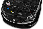 Car Stock 2016 Seat Ibiza-SC Cupra 5 Door Hatchback Engine  high angle detail view